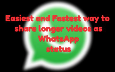 How to share videos longer than thirty second as WhatsApp status