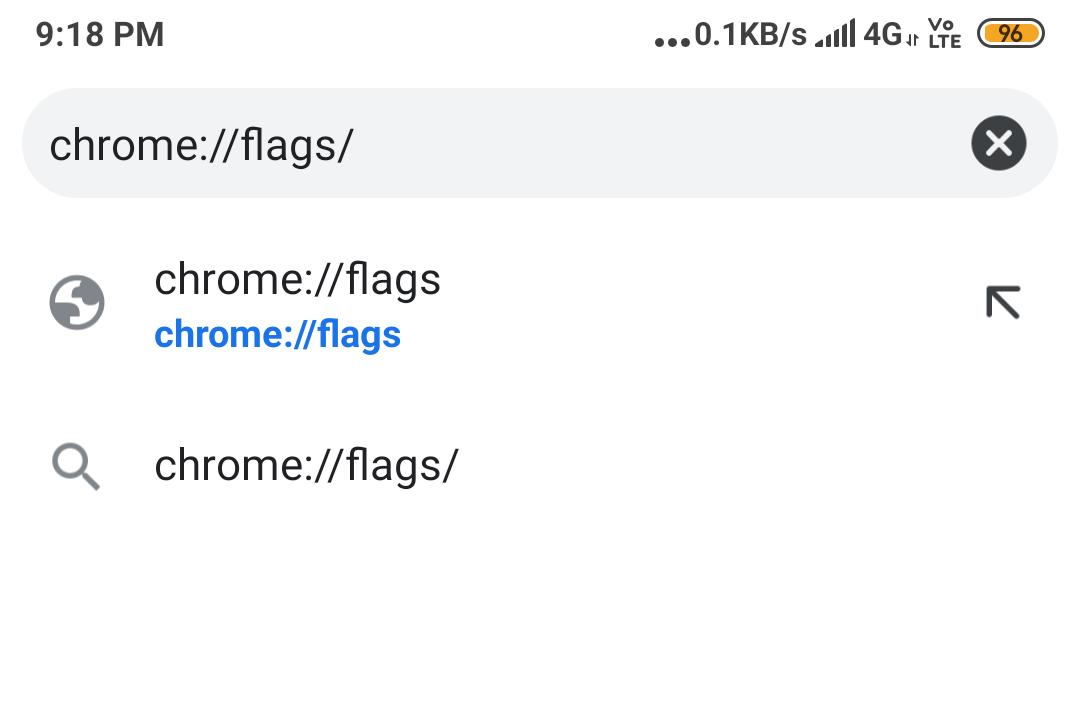 go to chrome://flags